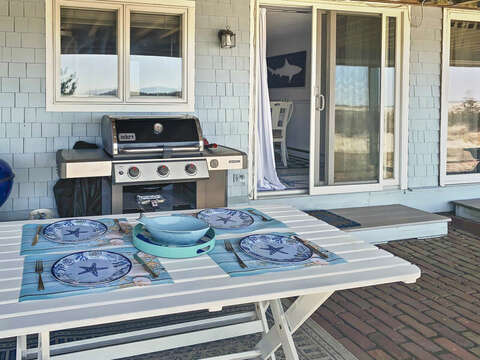 New Outside set up: -  22 Starfish Lane Chatham Cape Cod - New England Vacation Rentals