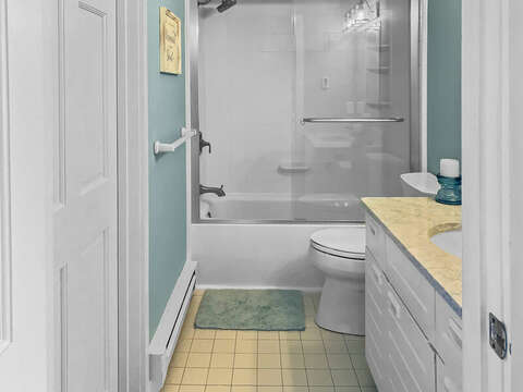 2nd Floor Bath 2 with tub/shower combo-  22 Starfish Lane Chatham Cape Cod - New England Vacation Rentals