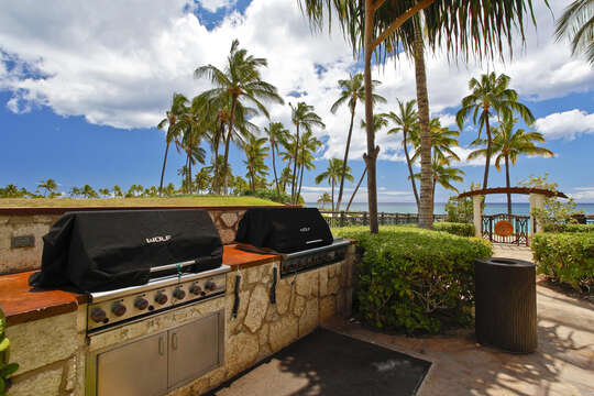 Two Grills with Ocean Views at the Beach Villas Property
