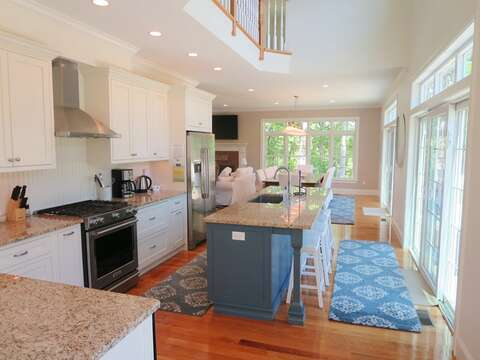 Another view of the kitchen - state of the art appliances-5 White Cedar Lane -Orleans- Cape Cod New England Vacation Rentals