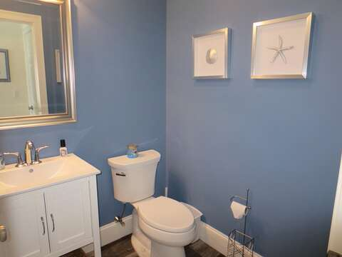 Off Hallway Half Bathroom - First Floor - 5 White Cedar Lane -Orleans- Cape Cod New England Vacation Rentals