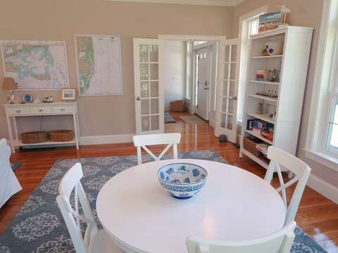 Enjoy breakfast, a snack, or a fun game here! - 5 White Cedar Lane -Orleans- Cape Cod New England Vacation Rentals
