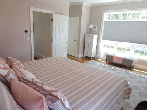 Bedroom 1-King Bed- another view - Ensuite bath-- 5 White Cedar Lane -Orleans- Cape Cod New England Vacation Rentals