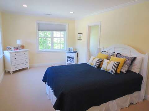 Bedroom 2 -Queen bed-with easy access to jack and jill bath -access in the room-5 White Cedar Lane -Orleans- Cape Cod New England Vacation Rentals