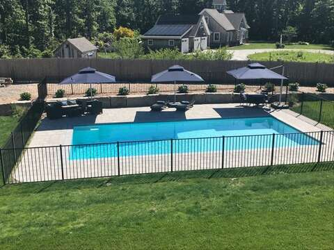 Pool and beautiful built in fire pit added..5 White Cedar Lane -Orleans- Cape Cod New England Vacation Rentals