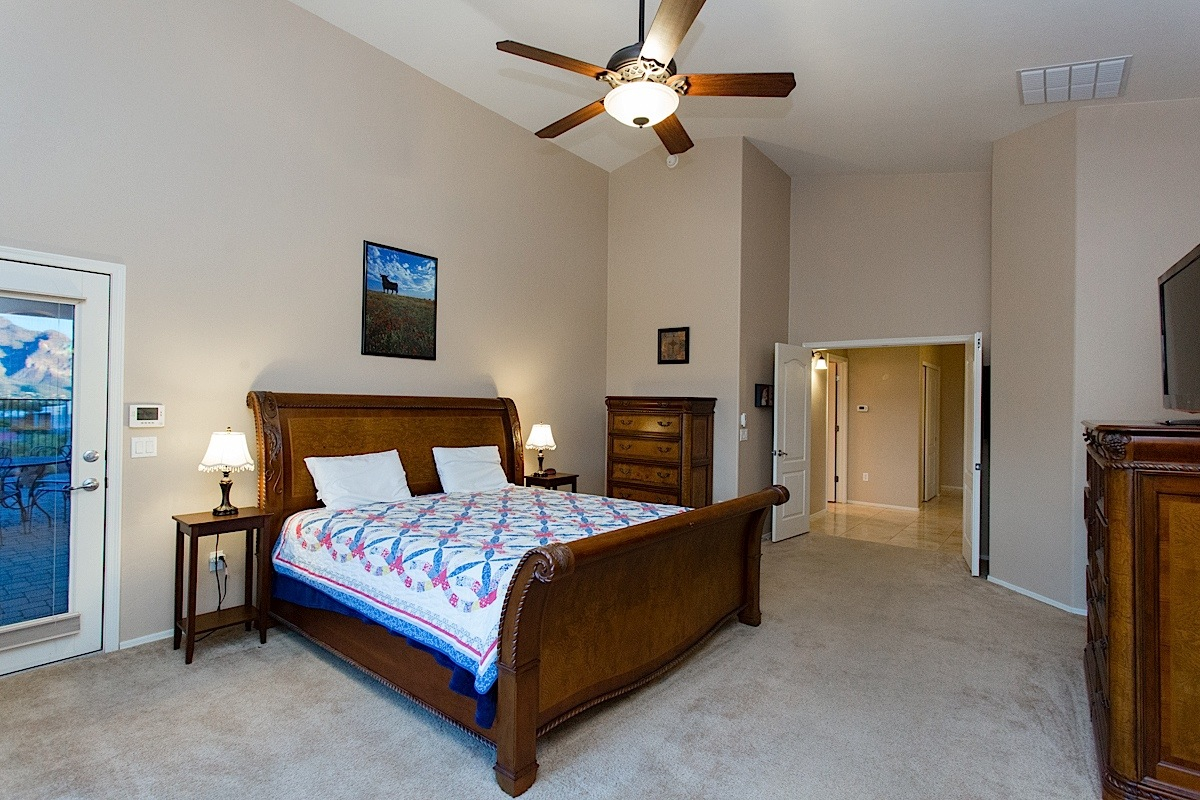 master suite is very large and open