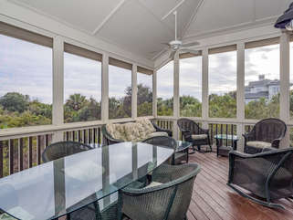 Spectacular screened porch with amazing views