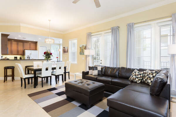 Lounge comfortably in the open floorspace