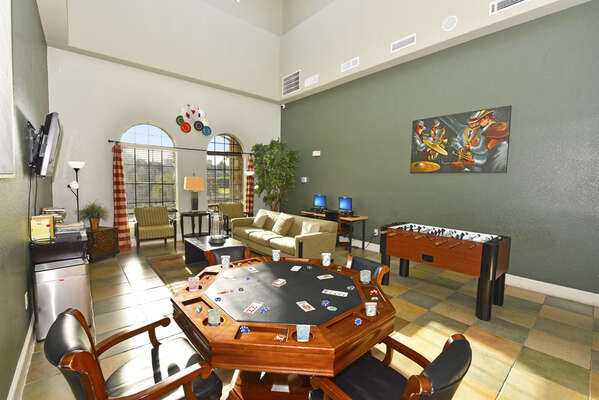 On-site facilities: games room