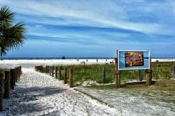 World famous Siesta Beach - amazing powder white sand and the azure waters of the Gulf