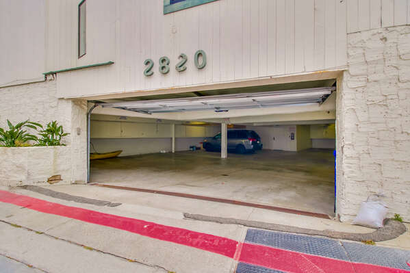 Parking Space in the Garage.