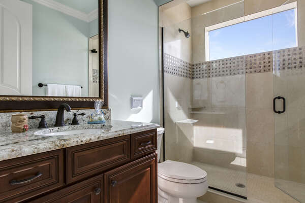 You will have the privacy of a private en-suite bathroom during your vacation