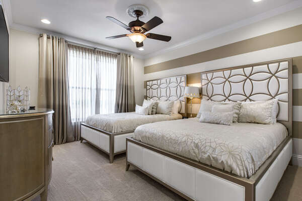 The Hollywood Suite is waiting in this third floor suite offering two queen beds