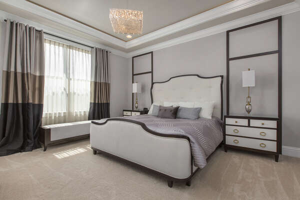 The London Suite with king bed is waiting in this second floor suite