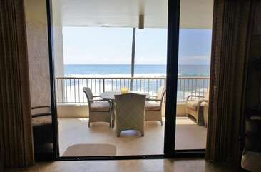 Ocean Views From Inside Condo