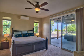 Master Bedroom with Ocean Views and Lanai Access