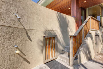 Stairs to Mauka Wing and Outdoor Shower