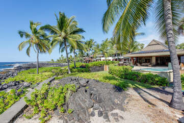 Situated Along Kona Coasts Rocky Shore