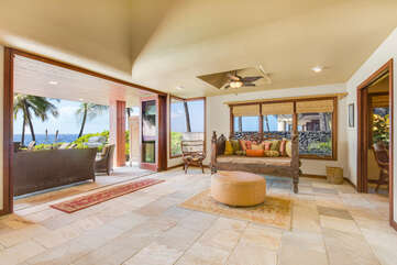 Indoor/Outdoor Living - Enjoy Lounging on Traditional Hawaiian Pu