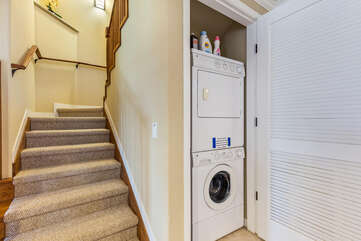Stairs to the Loft and In-Unit Washer and Dryer