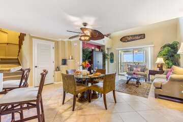 Dining Area off Kitchen and Living Area at Golf Villas at Mauna Lani J23