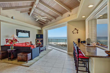 Enjoy The Ocean Breezes From The Large Living Area