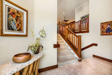 The Stairway at the Entrance of our Waikoloa HI Rental