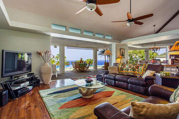Large Comfortable Living Area With Ocean Views