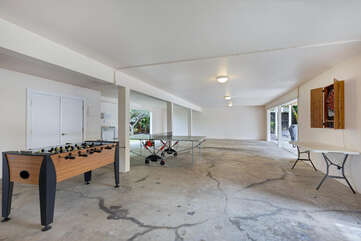 Parking and Common Area with Foosball, Ping Pong, Darts and Washer