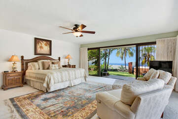Master Bedroom with King Bed and Ocean Views