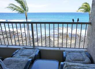View of the ocean from our Kona Hawaii vacation rental