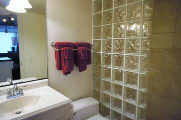 Second bathroom with Tiled Walk In Shower