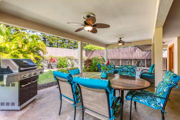 Covered Lanai Dining with Grill