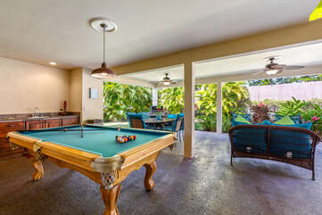 Billiards Table Located on Covered Pool