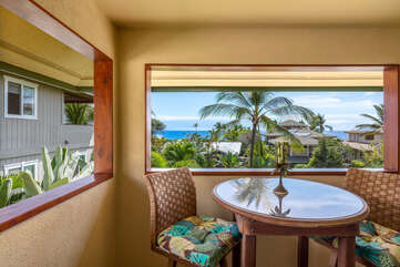 Lanai Off Master Bedroom with Ocean Views