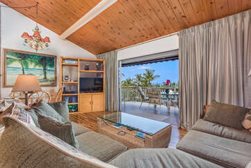 Living Area with Patio View