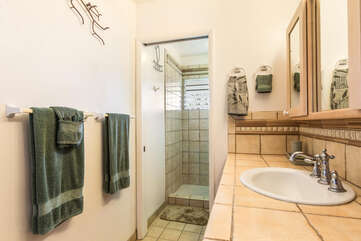 Master Bathroom with Tiled Walk In Showers