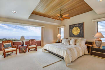 Master Bedroom with King Bed and Ocean