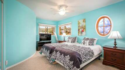 Bedroom 4 with Twin Beds. Convertible to King for a Fee.