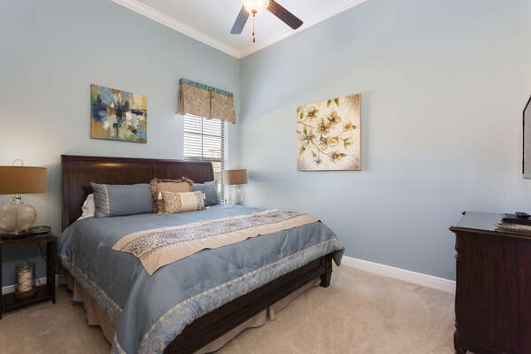 This king room has beautiful finishes