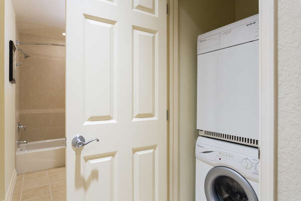 Enjoy the convenience of your own private washer and dryer