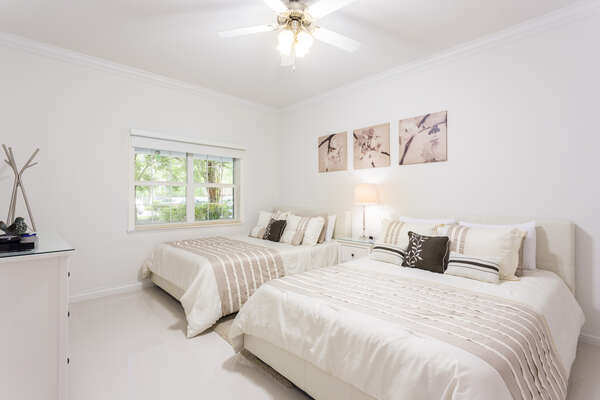 Third bedroom with two full size beds