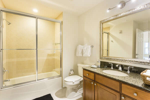 shared bath with access to third bedroom