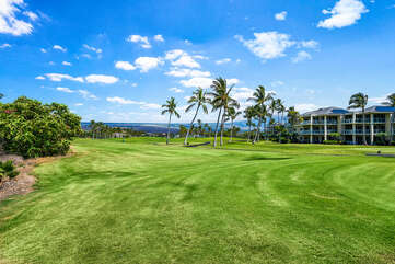 Shores at Waikoloa located on the golf course