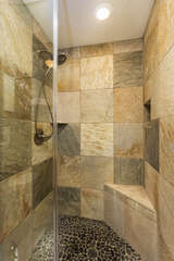 Beautiful Quartzite Master Shower