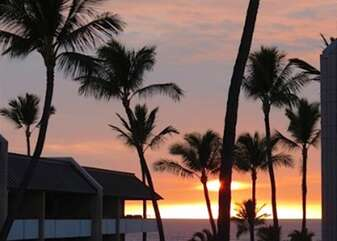 Beautiful Hawaiian Sunset from Lanai