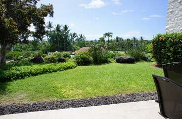 grassy area connected to lanai