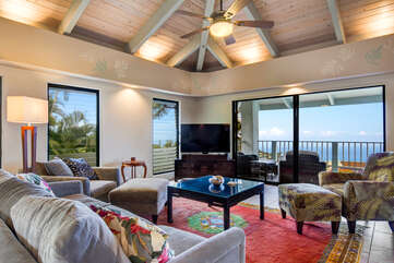 Comfortable Furniture Vaulted Ceilings And Ocean Views!