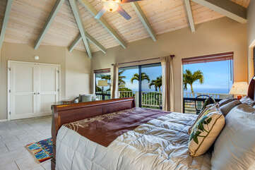 Master Bedroom With Ocean Views And A Cal King Bed