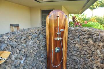 Outdoor Shower off Bedroom 2 and 3